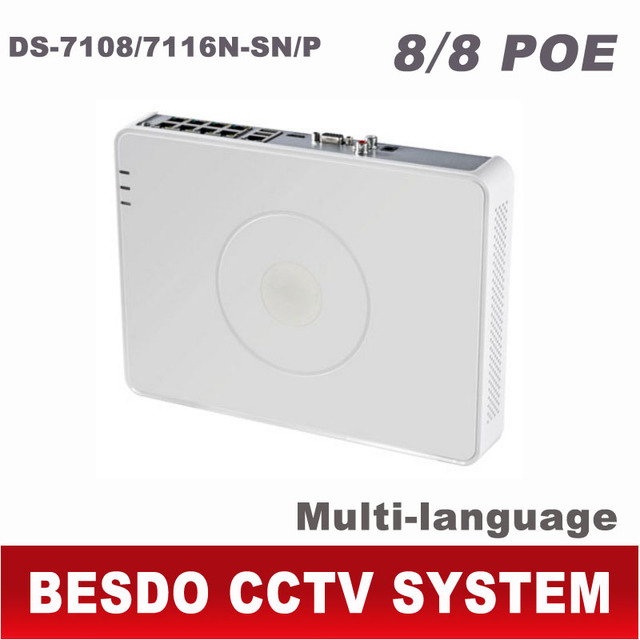 US $122 99 |Hikvision NVR POE 8CH 16CH HD IP 1080P CCTV network video  recorder ds 7108n sn/p ds 7116n sn/p ds 7108 ds 7108n 8 16 CH Channel-in