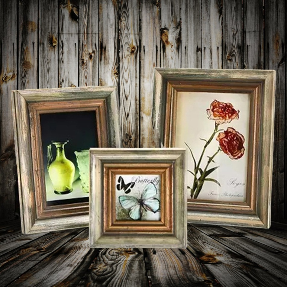 Wooden Window Frame Wall Decor : Retro wood frames artifacts wall window decor wooden frame
