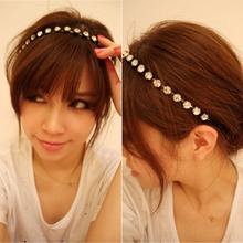 Hot Pearl Crystal Metal Rhinestone Fashion Hair Jewelry Women's Headband Chain  5BT2 7ECA