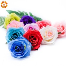 20PCS Artificial Silk Rose Heads Bride Fake Flower Head For DIY Decorative Wedding Birthday Party Home Decoration Flowers Gifts 2 heads rose artificial flower fake leaf velvet silk flowers artificial for home party wedding decoration