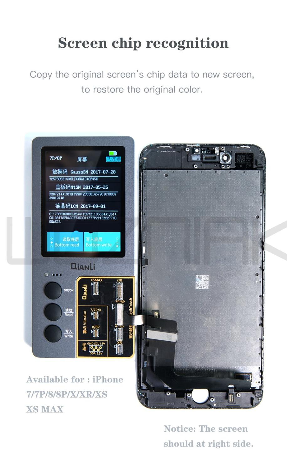 QianLi iCopy LCD Display Touch Vibrating Motor eeProm Transfer Tool For iPhone parts icluding LCD Touch Vibrating Motor a