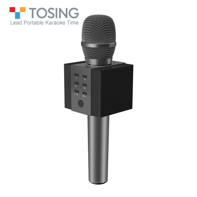 Professionnel Bluetooth Sans Fil Microphone Karaoké Microphone Haut-Parleur Lecteur de Musique de Poche MIC Chant Enregistreur KTV Microphone