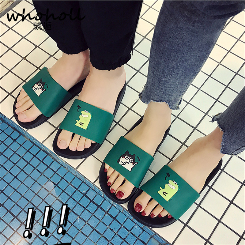 WHOHOLL Man Home Slippers Summer Sandals 2019 New Anti-skid Outside Wear Indoor Home Bathroom Bath Couple Cold Slippers Male 6