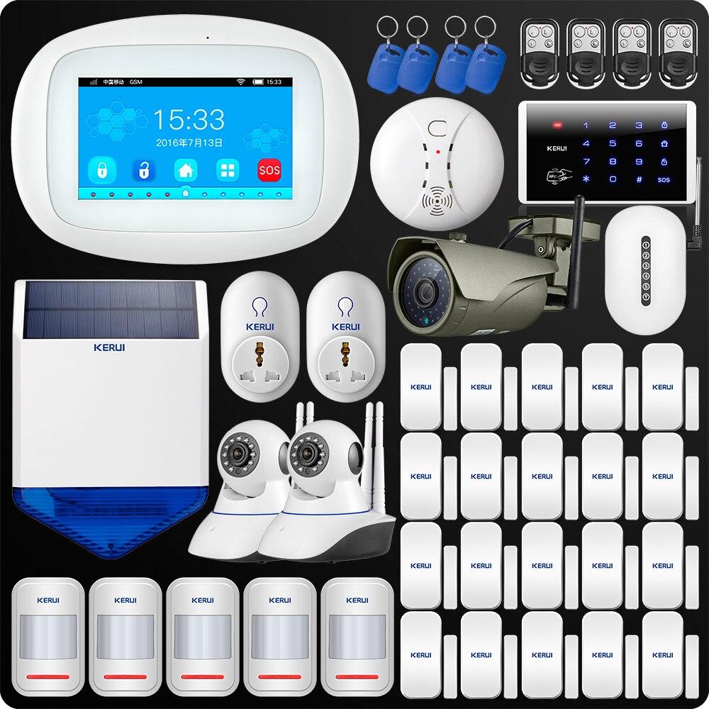 KERUI K52 4,3 дюймов TFT Цвет Экран Беспроводной безопасности WI-FI GSM сигнализация Системы приложение Управление клавиатуры открытый Камера Сингал ...