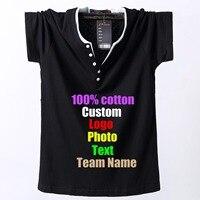 Oversized 8XL 7XL 6XL 5XL Men T shirt Custom Logo Text Photo Printed Team Working T shirt Plus size Male Man Tops Cotton Tees