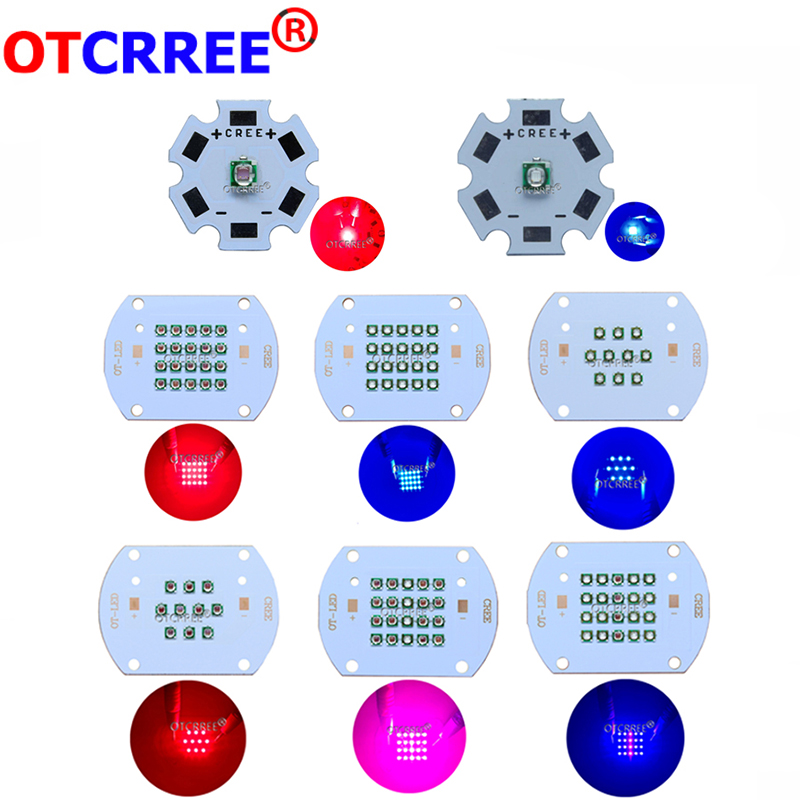 The Cheapest Price 30w 60w Plant Grow Led Light Cree Led Bulbs & Tubes Epileds Led Emitter Light 630nm Red 450nm Royal Blue For Indoor Garden Plant