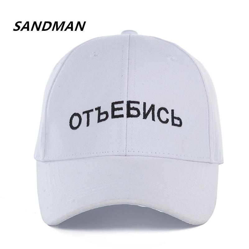 Sandman Hohe Qualität Unisex Baumwolle Marke Russische Brief Snapback Cap Baseball-cap Für Männer Frauen Hip Hop Papa Hut Knochen Garros Baseball-kappen Bekleidung Zubehör