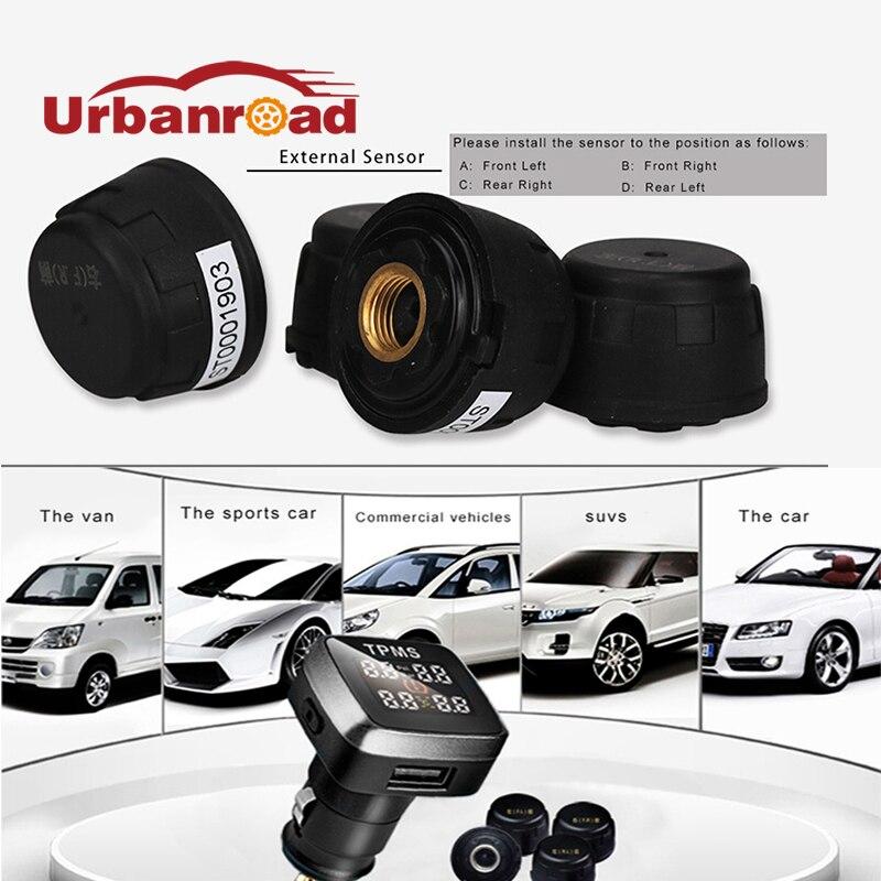 Smart Wireless Car font b TPMS b font Tire Pressure Monitoring System Universal Auto font b