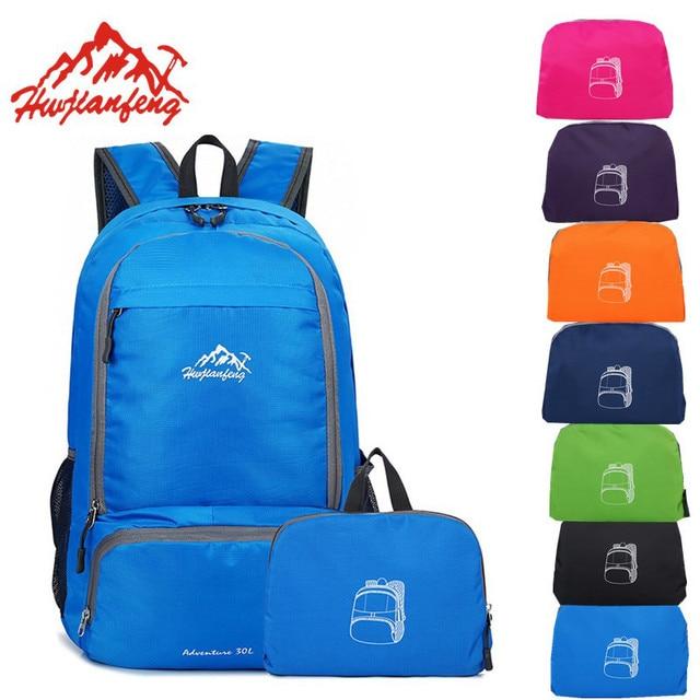 3f815d1a9845 Outdoor Foldable Bag Sport Small Traveling Backpack For Trekking Women Men  Skin Bag Waterproof Nylon Rucksack 28 16 44cm