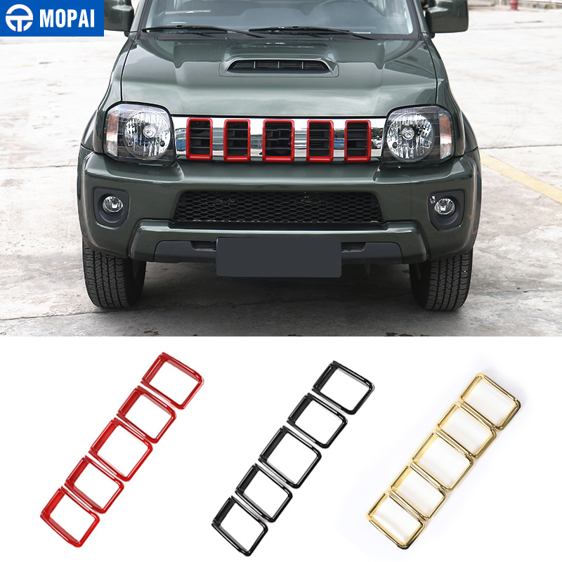 MOPAI ABS Car Exterior Front Insert Grille Cover Decoration Ring Trim Stickers Accessories for Suzuki Jimny Car Styling for suzuki sx4 s cross 2013 2014 automobile chrome rear door trunk lid cover trim car styling stickers accessories