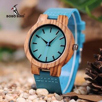 BOBO BIRD LC28 montres en bois de mode Antique montre Erkek avec bande en cuir montre à quartz décontractée pour unisexe dans une boîte-cadeau en papier