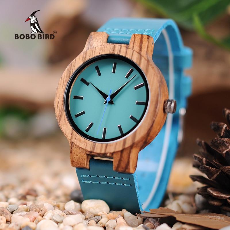 BOBO VOGEL LC28 Holz Armbanduhren Mode Antike Erkek Uhr mit Leder Band Casual Quarzuhr für Unisex in Papier Geschenk box