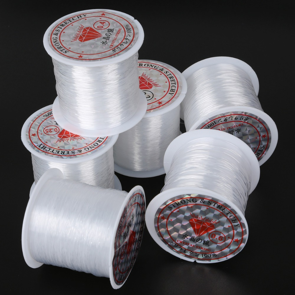 Beading-Cord String Jewelry Thread Non-Stretch Fish-Line Wire Nylon for Size title=