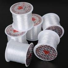 Tamanho 0.2mm/0.25mm/0.3mm/0.35mm/0.4mm/0.45mm/0.5mm/mm/mm fio para linha de peixe não esticável, mm/0.6mm, corda de nylon, fio para jóias