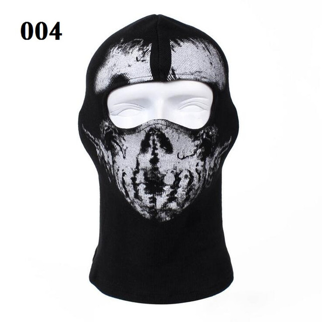 Ghost Full Face Mask Skull Balaclava Costume Hood For Outdoor CS Hunting Cycling
