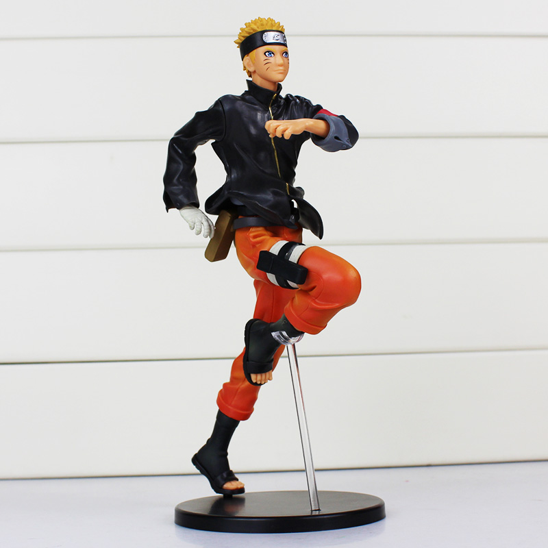 24cm Anime Naruto Figures Uzumaki Naruto PVC Action Figure Toys Model Dolls Approx Great Gift anime naruto pvc action figure toys q version naruto figurine full set model collection free shipping