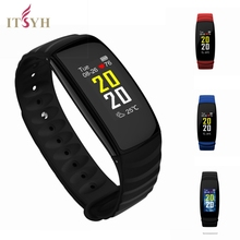 ФОТО  itsyh waterproof smart wristband fitness bracelet heart rate with oled smartband sport watch for ios android pk xiaomi mi band2