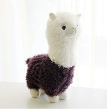 small cute plush purple sheep toy creative God beast doll alpaca toy gift about 35cm