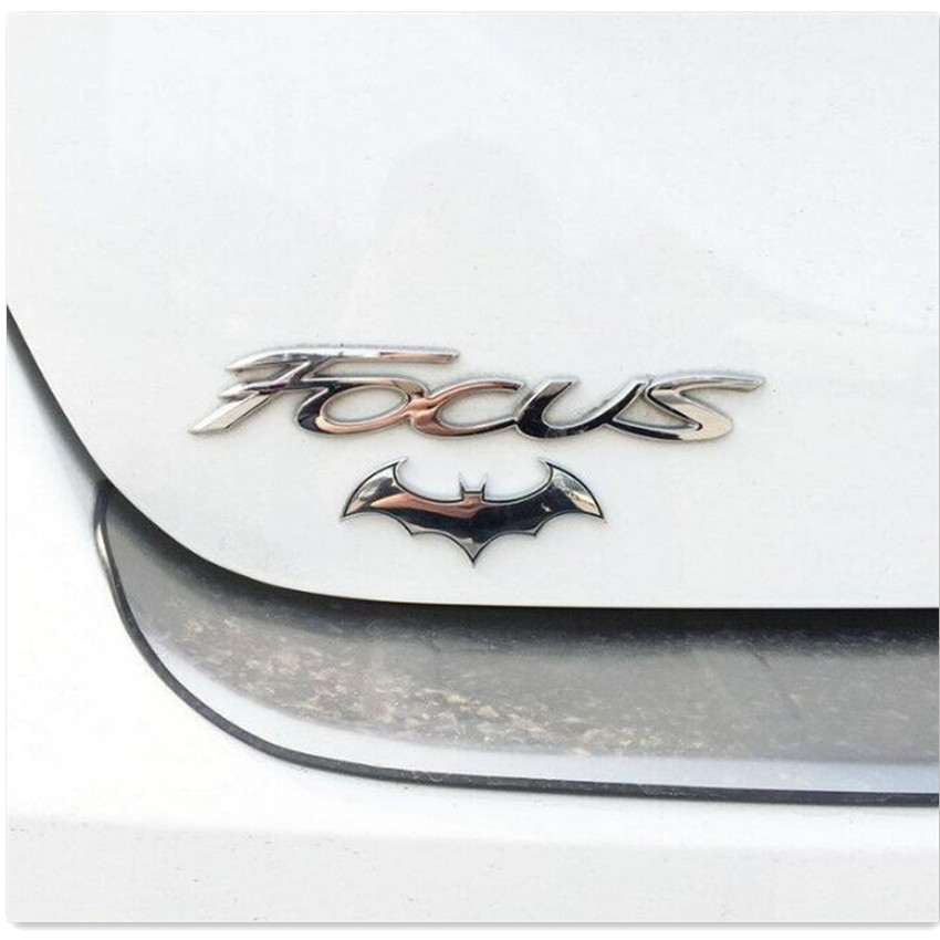 Car Styling Bat 3D <font><b>Chrome</b></font> Metal Car Sticker for citroen c4 c3 <font><b>peugeot</b></font> golf 6 bmw e39 e36 e87 <font><b>peugeot</b></font> <font><b>208</b></font> fiat 500 clio 4 image