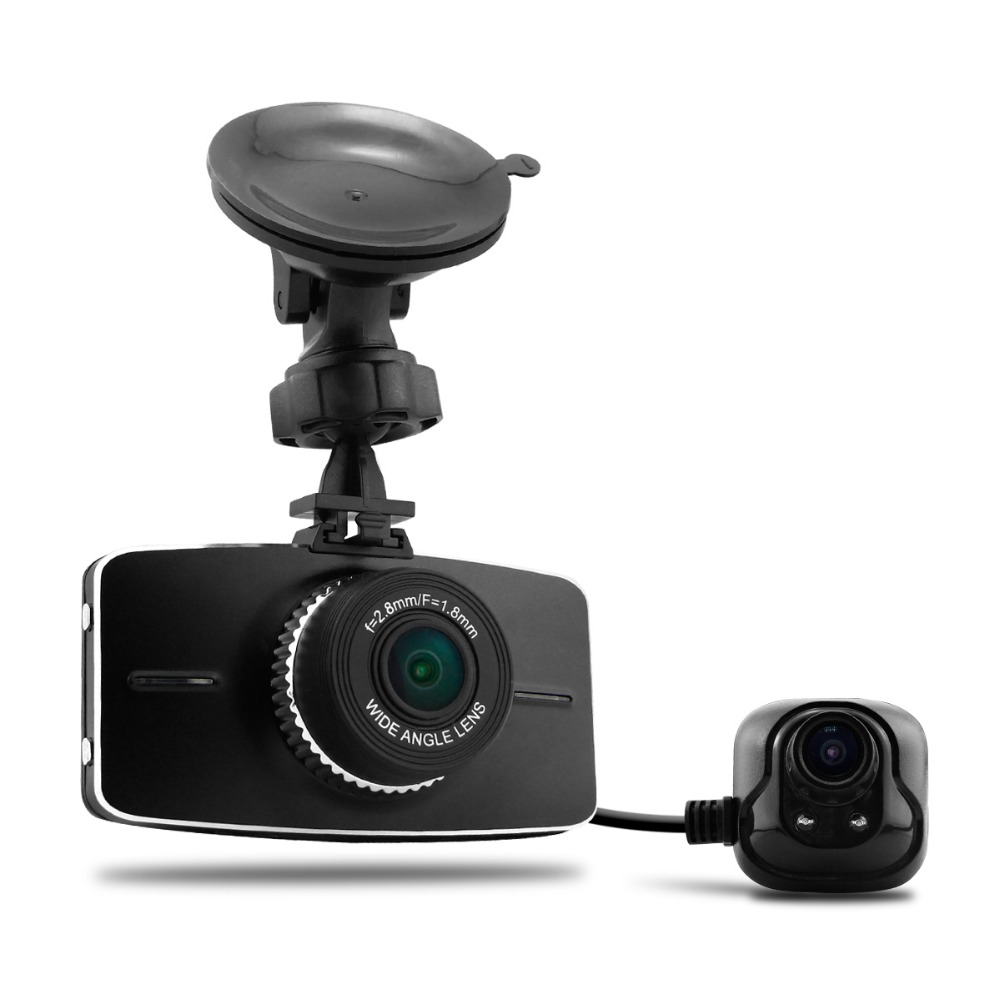 "2016 New Dual Lens Dash Cam G5WA Ambarella A7la50 Car Dvr Full HD 1080p 3""lcd Screen H.264 ADAS Car Camera Video Recorder"
