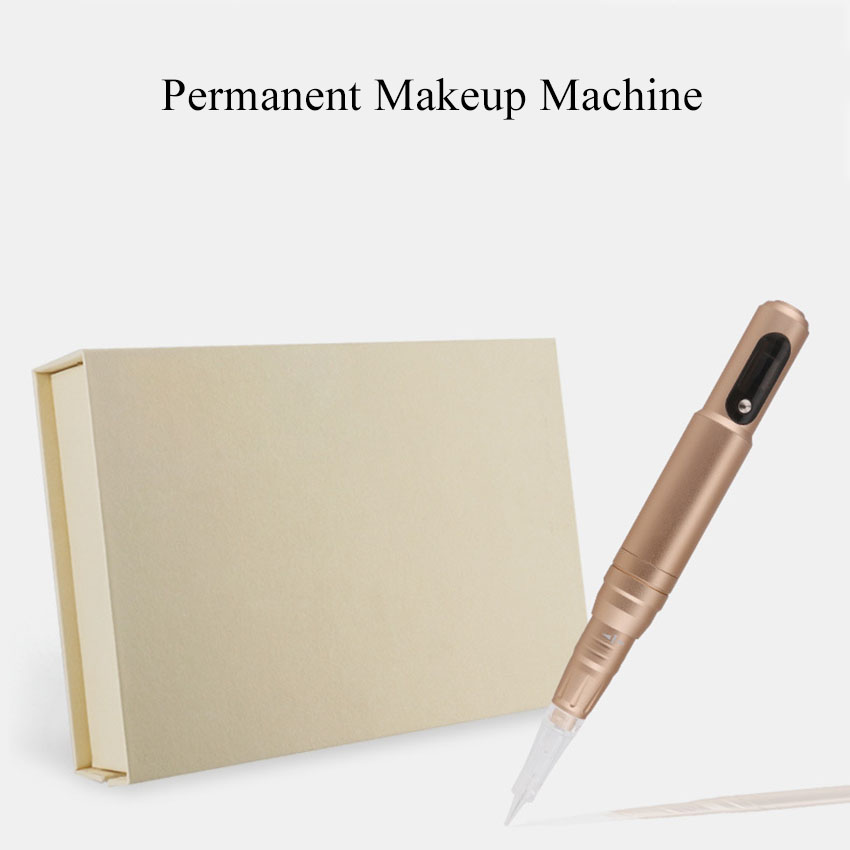 Permanent Makeup Machine LCD Electric Tattoo Machine Pen Adjust Eyebrow Lip Microblading Machine with Cartridge Needles Adapter цена