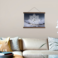 Scroll painting HD printed pictures and posters Mandala background wall art hanging canvas painting for living room decoration