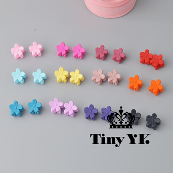 10 pcs New Fashion Baby Girls Small Hair Claw Cute Candy Color flower Hair Jaw Clip Children Hairpin Hair Accessories Wholesale 1