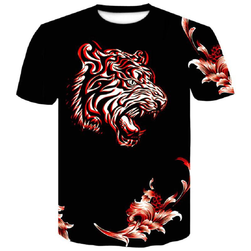 Brand Newest 26 colors Tiger 3D print O-Neck Mens T Shirt Men Fashion Tshirts Summer Casual Black Male shirt M-4XL Short Sleeve