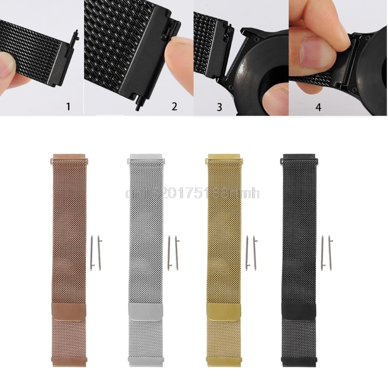 Stainless Steel Magnetic Milanese Loop Wrist Band For Samsung Gear S3 Smart Watch D22 drop Shipping milanese loop for samsung gear s2 sm r720 stainless steel magnetic milanese band with connector for gear s2 rm 720 smgs2mlc