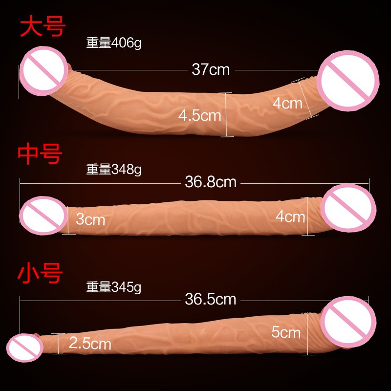 37*4.5cm Flexible Double Dildo, Long Double Dong Penis, Lesbian Dual Dildos, Dual Penetration Dildos, Sex Toys for Adult 3
