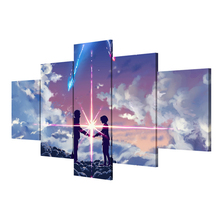 Your Name Anime 5 Pieces Home The Wall Art Paintings on Canvas Living Room Artwork Modern HD Print Painting