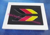 2pcs Car Germany Flag Fender Side Wing Emblem Badge Sticker