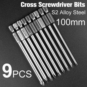 Image 5 - 9 шт. X набор магнитных отверток Philips 1/4 дюйма 6,35 мм хвостовик S2 легированная сталь 100 мм длинный набор магнитных шестигранных отверток