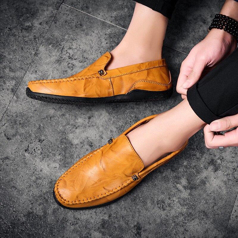Chaussures Rouge Hommes Homme Mou Casual De En Cuir jaune Confortables Fond Luxe Mode Noir Slip vin La Coudre Aa52101 Main À on rn1frqX