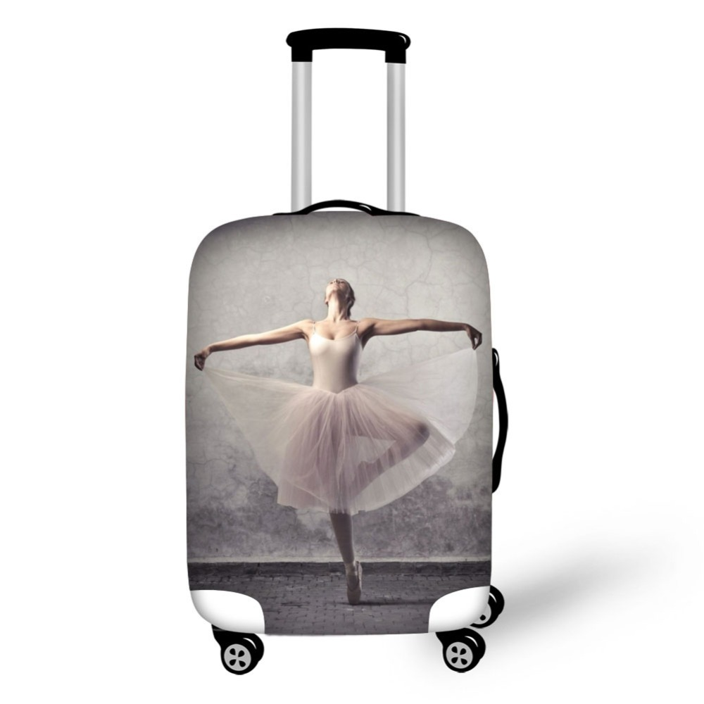 New Ballet Design Prints Cover High Elastic Fabric Covers Protective Covers For Suitcases Travel Accessories Luggage Covers