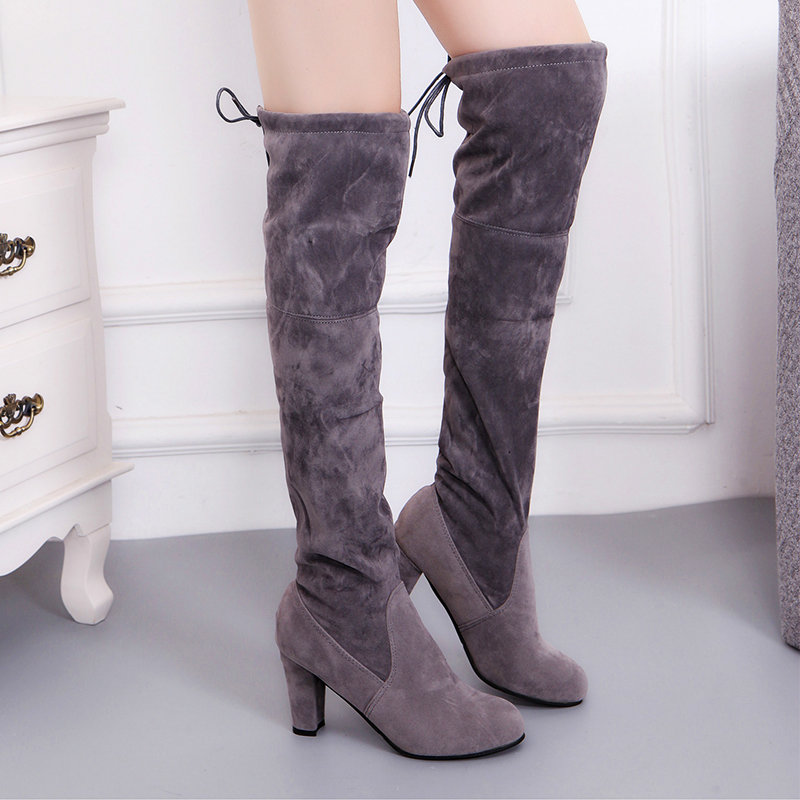 Aliexpress.com : Buy 2017 High heel women boots plush warm ...