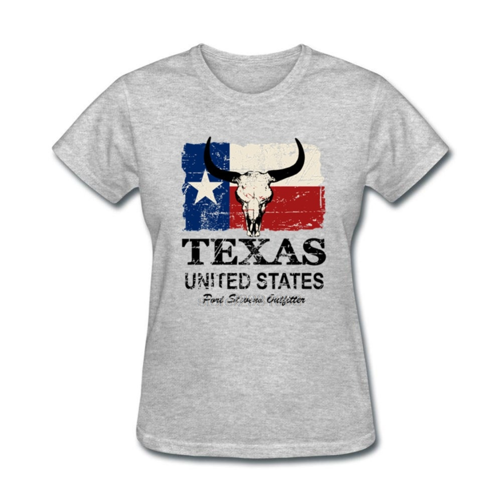 Design your own t shirt made in usa - Movie T Shirts Pre Cotton Usa American Texas Bull Flag Shorts Sleeve Tee Shirts Womens T Shirts Custom Made Funny Hip Hop