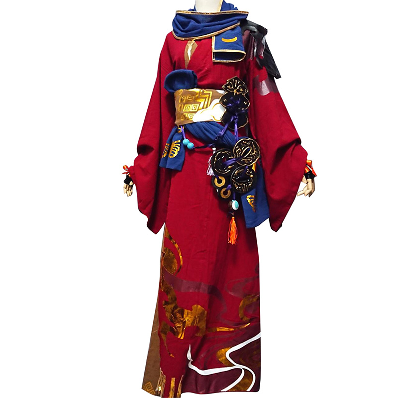 Hot Final Fantasy Cosplay  Costume Red Warrior Costume Full Sets Halloween Carnival Costume