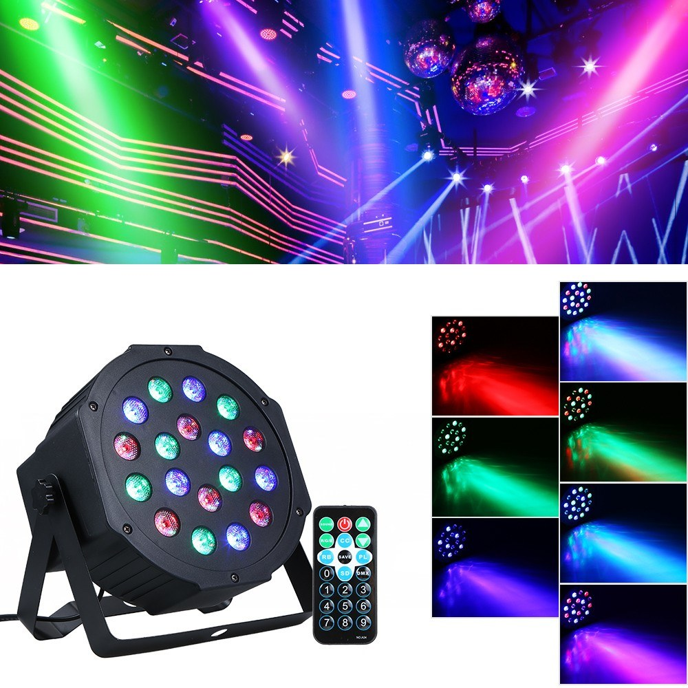 Fast shipping 18*15W mini led par wash beam spot stage effect light for DJ disco RGBW DMX moving head light Sound Control Laser
