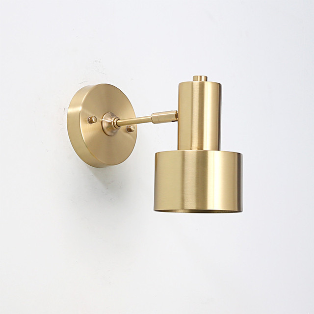 online store 27050 7fb11 US $75.05 21% OFF Retro Copper Adjust Wall Sconces Simple Vintage LED Wall  Light Fixtures With Plug Switch Bedside Wall Lamp Indoor Lighting-in LED ...
