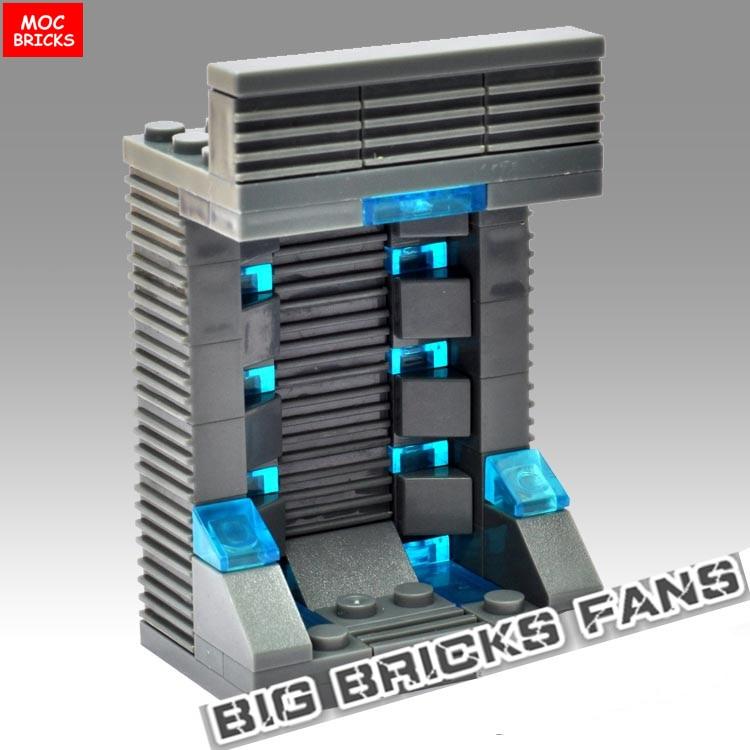 20pcs lot MOC Bricks Custom Ironman gantry Storage garage container case display MK Building Blocks Toys