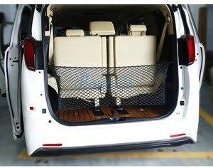 Image 3 - Für Toyota Vellfire Alphard Auto Lkw Lagerung Tasche Gepäck Netze Haken Organizer Dumpster Elastische Net Mesh Abdeckung Zubehör