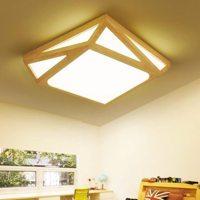 Madera LED Luces de techo lámpara LED moderno nórdico casa ...