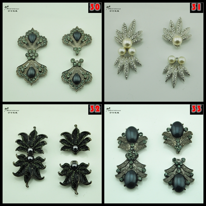 NEW High grade pearl rhinestone metal buckles buttons rhinestone for and garment and cashmere coat model clothes