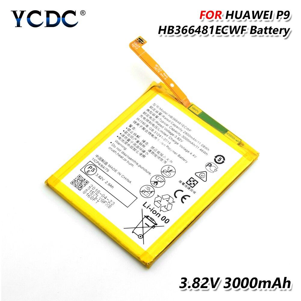 Lithium HB366481ECWF Batteia pour Huawei P9 P10 P20 Lite G9 Honor 5C Honor 8 Lipo li-po li-polymère batterie de téléphone Rechargeable
