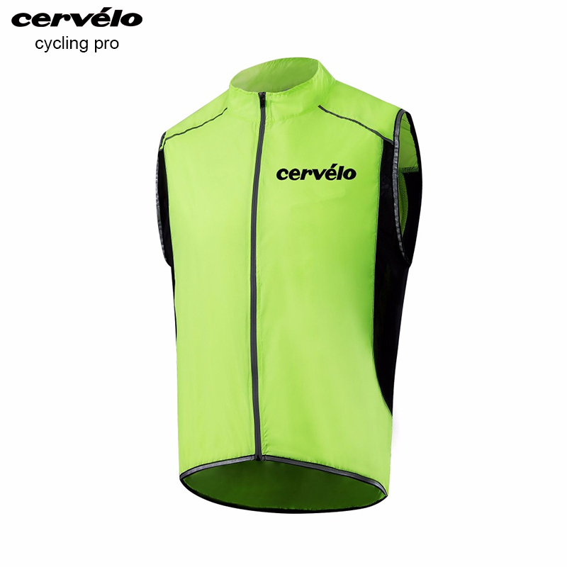 2018 Reflective Cycling Vest Windproof Waterproof MTB Bike Bicycle Waistcoat Breathable Cycling Clothing Sleeveless Jacket