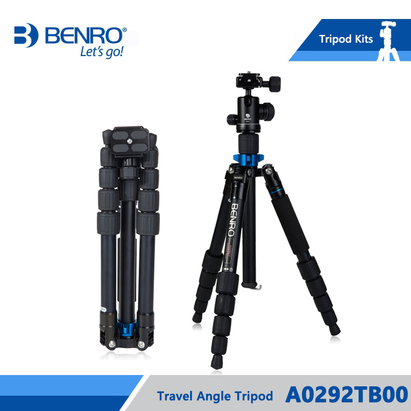 Benro A0292TB00 Tripod Aluminum Tripod Kit Monopod For Camera With B00 Ball Head Carrying Bag Max Loading 6kg DHL Free Shipping dhl gopro benro a550fhd2 urban elf kit aluminum tripod three dimensional head camera tripod