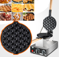 Free shipping 10 pcs/lots Electric 110v or 220v Stainless Steel Egg Waffle Machine Bubble Waffle Maker