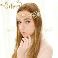 Free Shipping Sparkling Crystal And Beaded Floral Wedding Bride Lady Hair Vine Gilrs Photography Props Actors