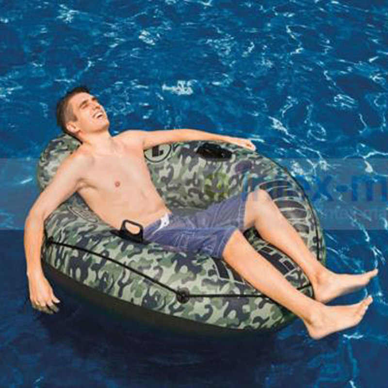 INTEX único camouflage inflável à deriva float floating bed colchonetas inflables piscina matelassê gonflable piscine